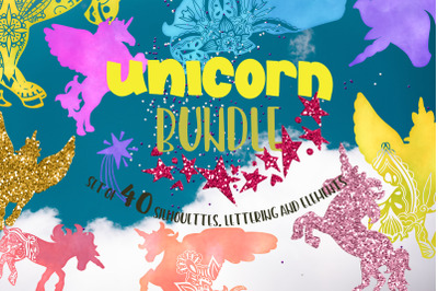 Unicorn bundle svg Mandala svg Lettering Quotes svg