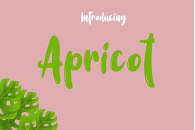 Apricot Font