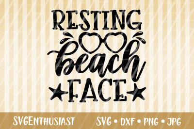 Resting beach face SVG cut file