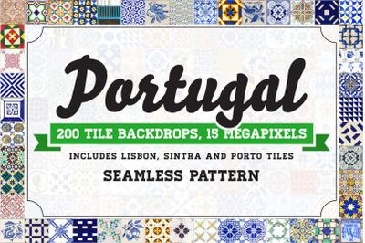 200 Seamless Portugal Tile Backdrops