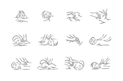 Massage body relax vector illustration