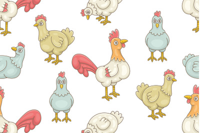 Set of Cocks and Hens and Pattern