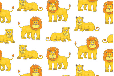 Set of Lion and Lioness and Pattern