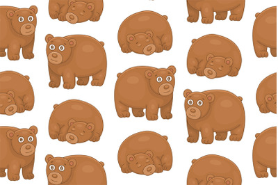 Set of Brown Bears and Pattern