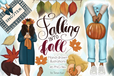 Falling Into Fall Clipart & Patterns