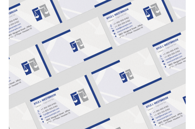 Lawyer Law Firm Clean Business Card