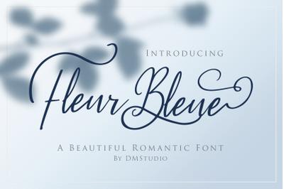 Fleur Bleue - Romanttic Script Font