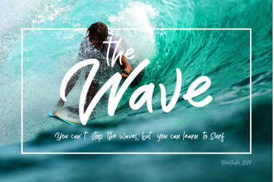 The Wave // Display Font