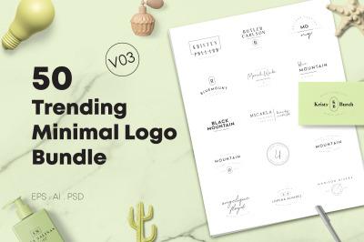 50 Trending Minimal Logo Bundle V03