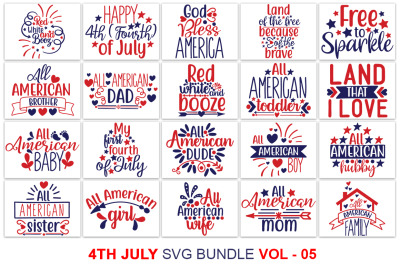 4th July SVG Bundle Vol - 5, 4th July T shirt