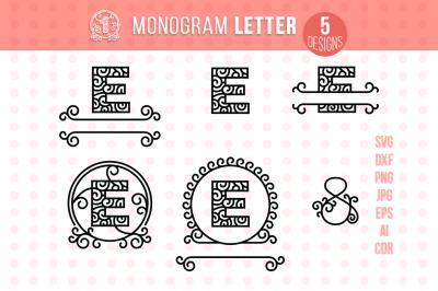 Monogram Letter E