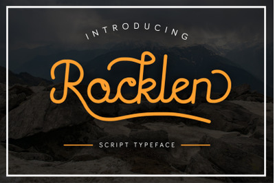Rocklen Monoline Script