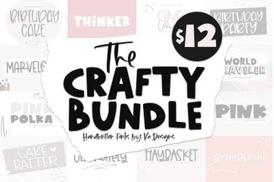 The Crafty Font Bundle - 14 Handwritten FONTS!