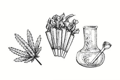 Medical marijuana illustration.