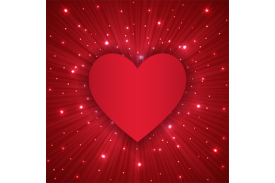 Valentine Day background with red heart