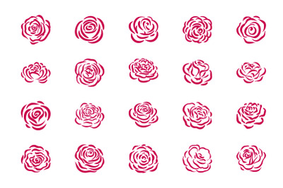 Rose flower symbol illustration