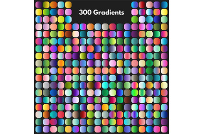 Vibrant modern gradient swatches vector set