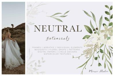 Neutral Botanicals Florals & Leaves