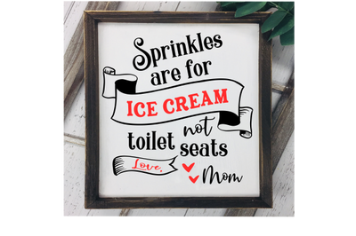 Sprinkles are for ice cream not toilet seats