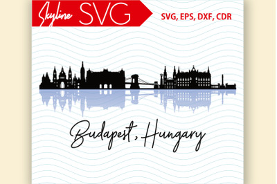 Budapest Skyline Hungary City Country in Europe Vector SVG