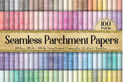 100 Seamless Antique Parchment Old Grunge Digital Papers