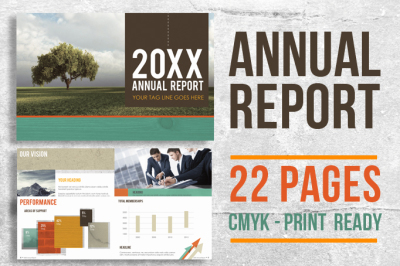 22 Page InDesign Annual Report Template