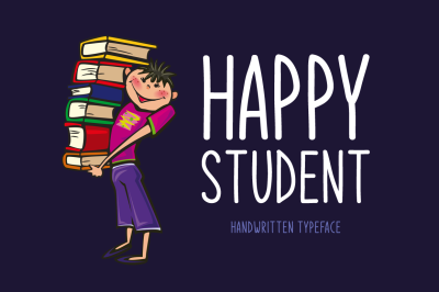 Happy Student Typeface