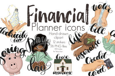 Financial Planner Icons Clipart