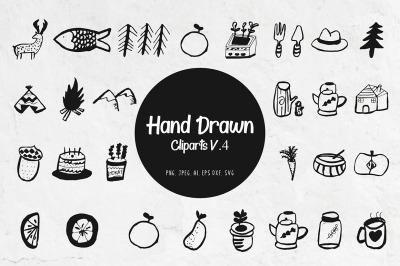 45+ Handdrawn Miscellaneous Cliparts Ver. 4
