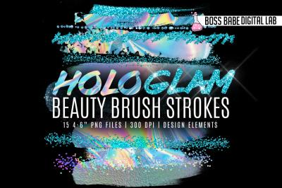 HoloGLAM Beauty Brush Strokes