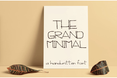 the Grand Minimal Font