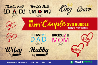 The Happy Couple Svg Bundle