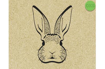 bunny rabbit head face svg, dxf, vector, eps, clipart, cricut, downloa