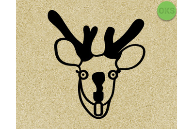 deer caught in the headlights svg, dxf, vector, eps, clipart, cricut,
