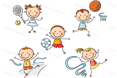 Kids going in for sport