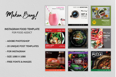 Makan Bang! Instagram Food Template