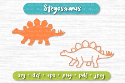 Dinosaur svg, Stegosaurus svg, Dinosaur party svg, Cute dinosaur svg