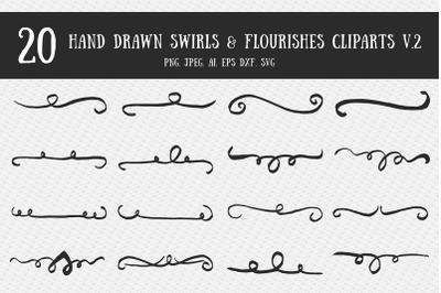 Swirls & Flourishes Cliparts Ver. 2