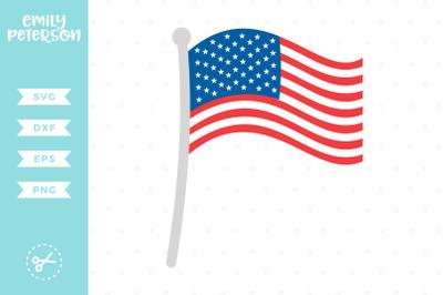 American Flag SVG DXF