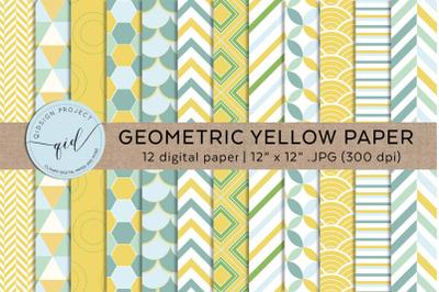Geometric Yellow Digital Papers .JPG