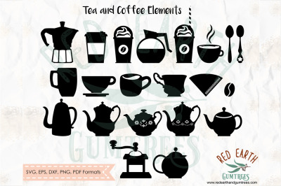 Coffee and Tea lovers collection, teapot, coffee SVG, PNG, EPS, DXF, P