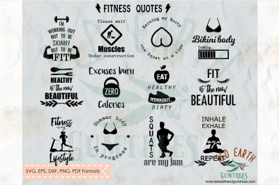 Gym and workout quotes and phrases, motivational workout  quotes SVG