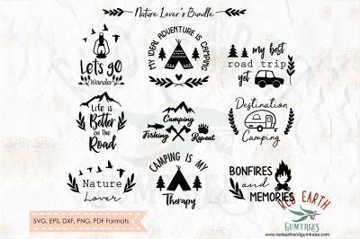 Camping quotes, nature lover,outdoor quotes SVG, PNG, EPS, DXF, PDF