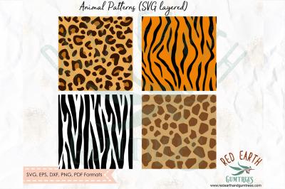 Animal print pattern, tiger,zebra,giraffe,leopard SVG, PNG, EPS, DXF,