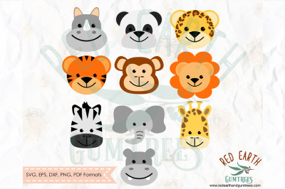 Baby animals bundle, baby shower animals SVG, PNG, EPS, DXF, PDF