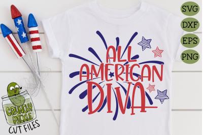 All American Diva SVG