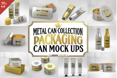 Vol4. Metal Packaging Mockup Collection