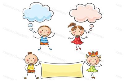 Kids speech bubbles