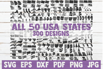 All 50 USA States SVG Bundle | Cut Files