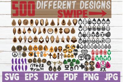 HUGE Earring SVG Bundle | 500 Different Designs